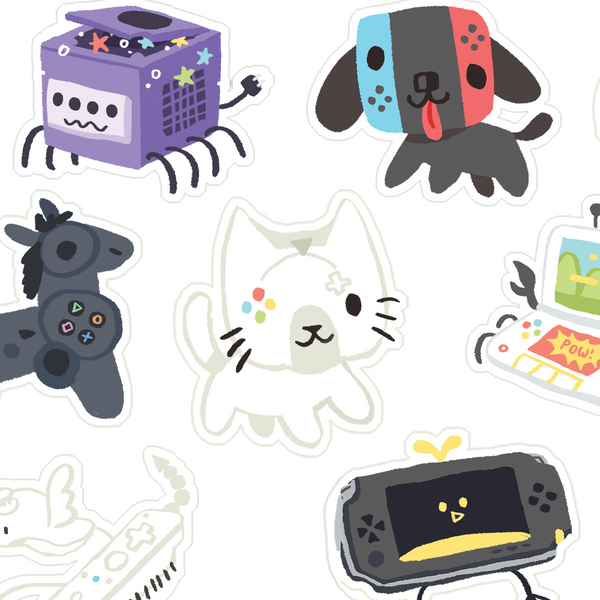 Console Critters Stickersheet