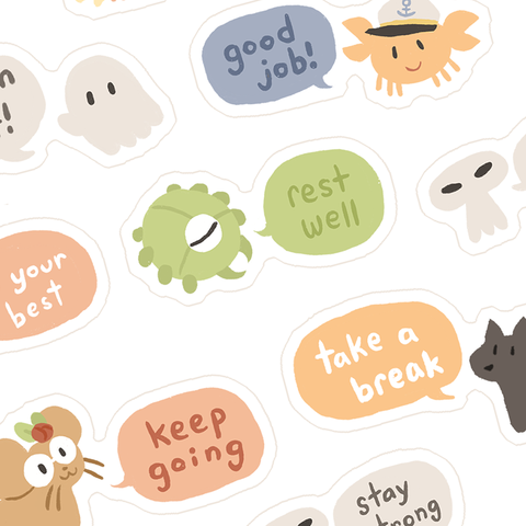 Take Care Stickersheet