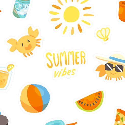 Summer Fun Stickersheet