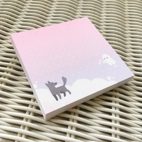 Ghost and Dog Memo Pad