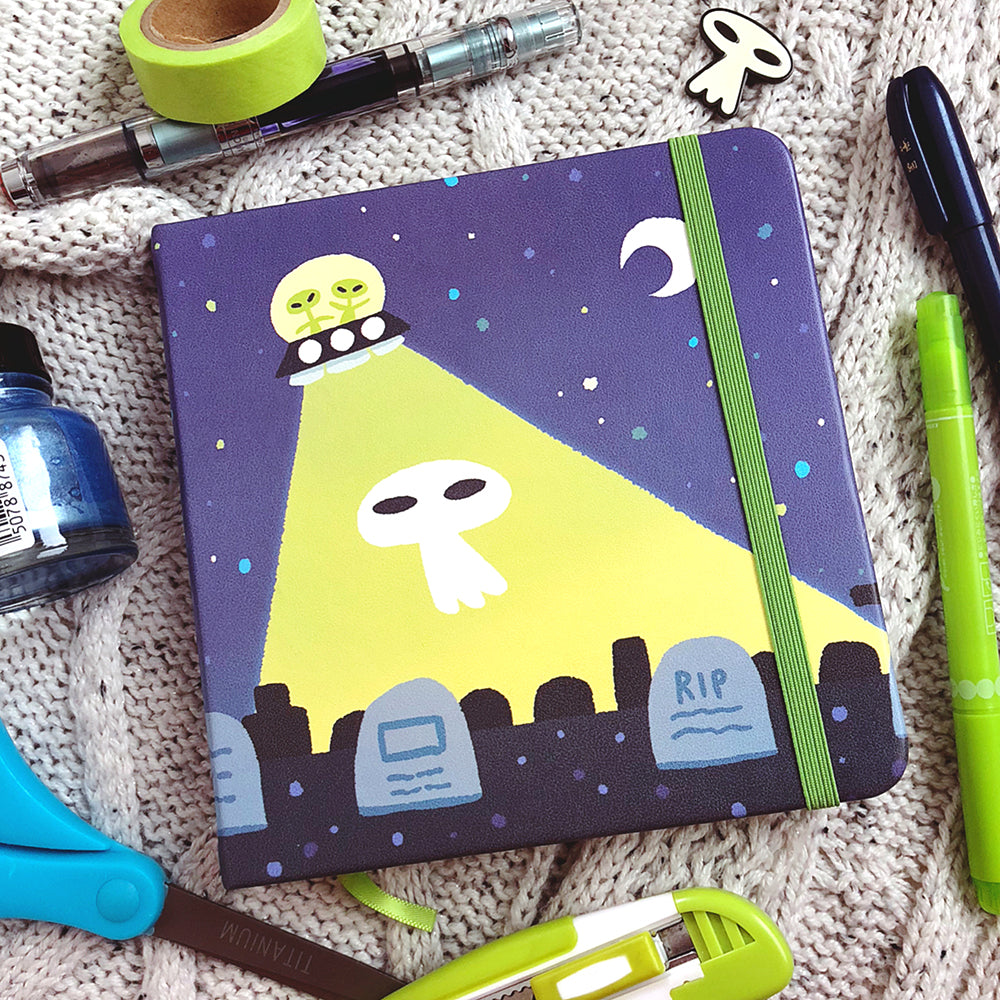 Alien Ghost Square Notebook