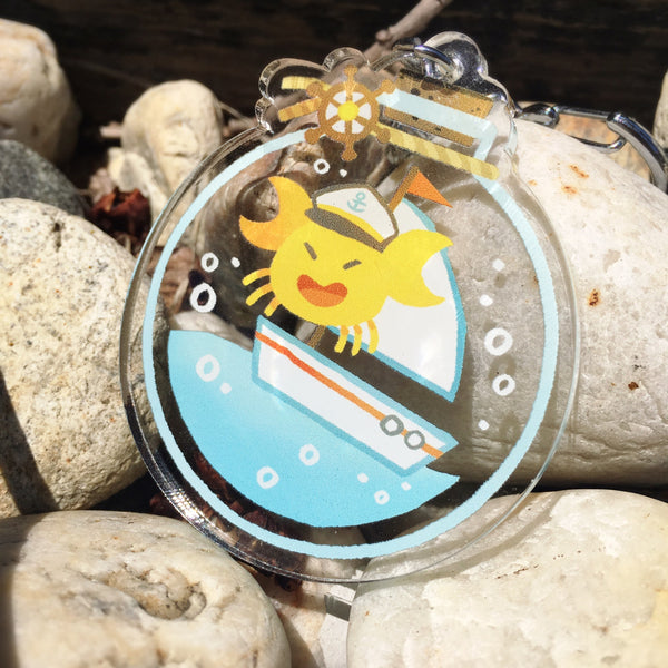 Captain Crab Bottle Charm