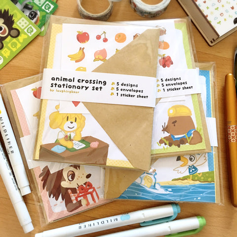 Animal Crossing Stationery Set