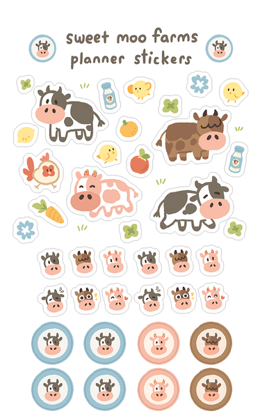 Planner Sticker Set: Sweet Moo Farms
