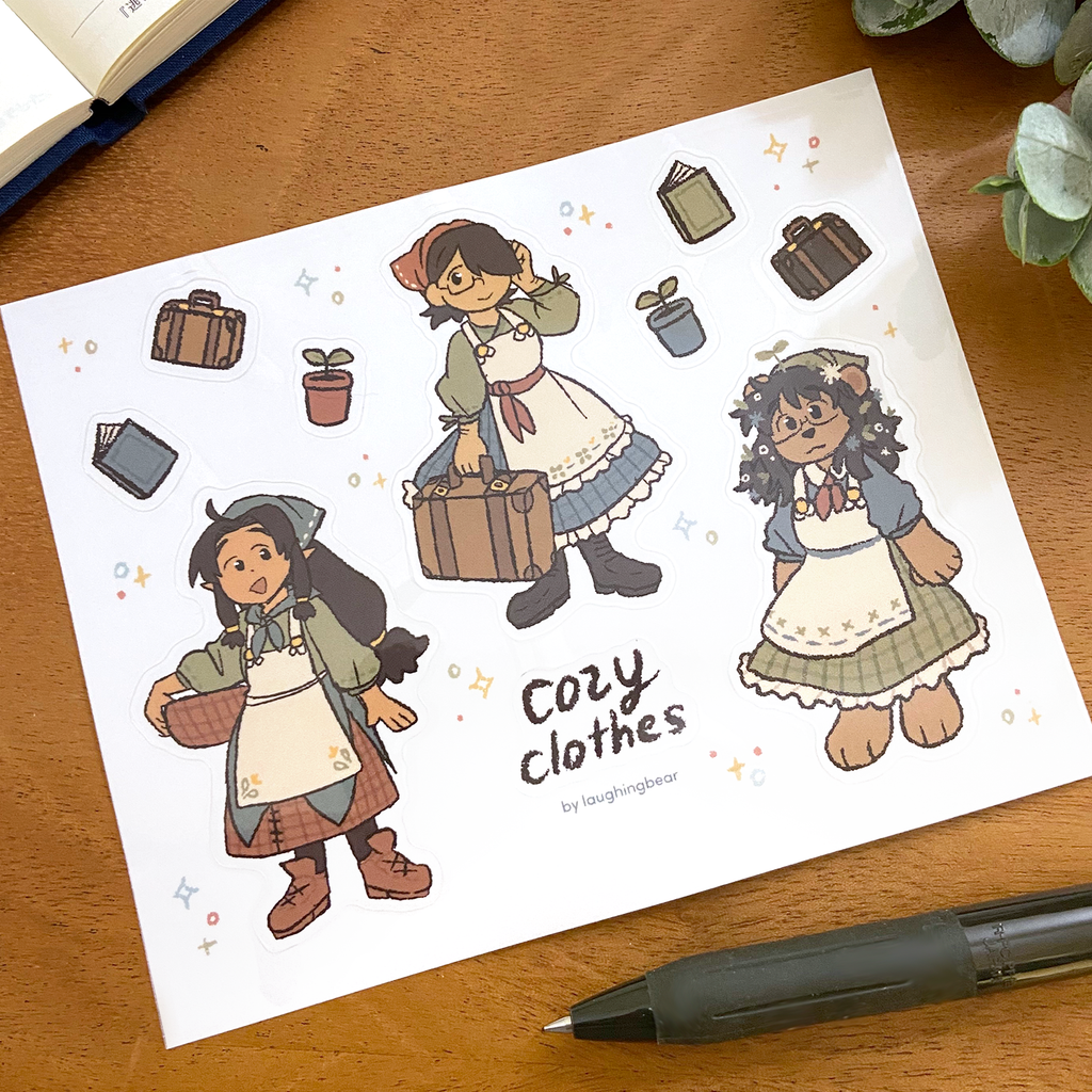 Cozy Clothes Stickersheet