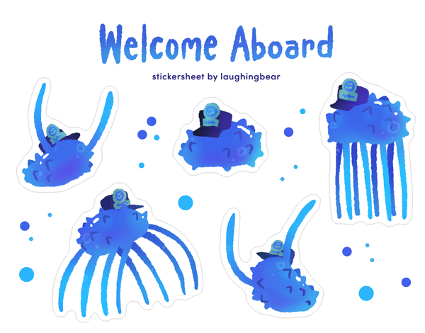 Welcome Aboard Stickersheet