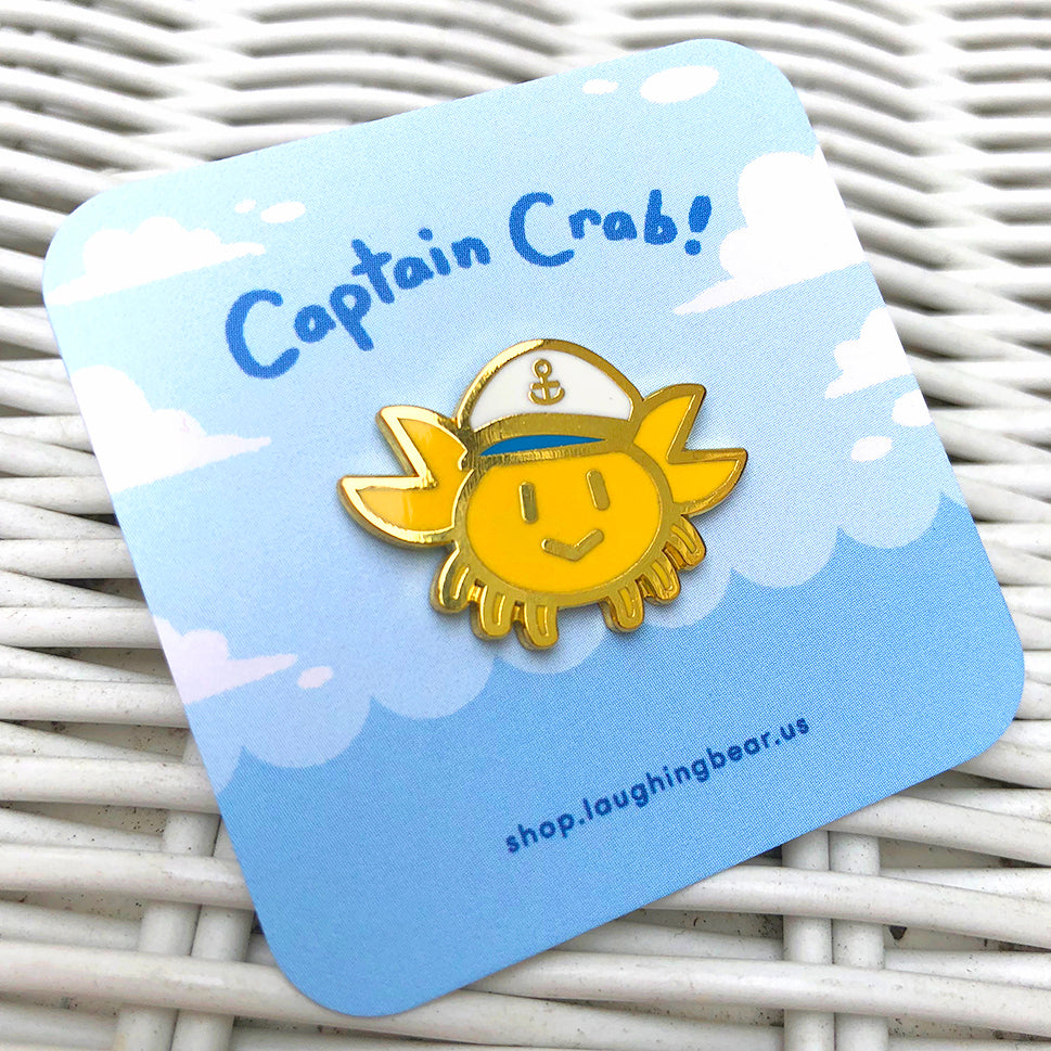 Captain Crab Enamel Pin