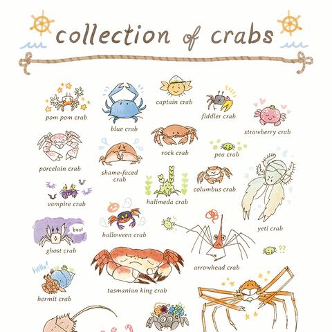 Collection of Crabs Print