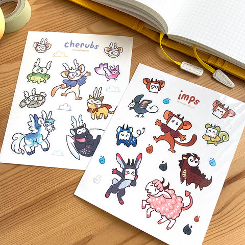 Cherubs & Imps Stickersheet