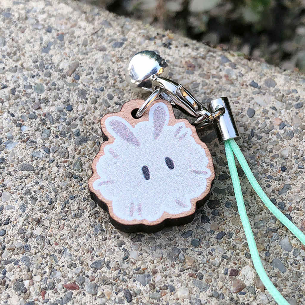 Dust Bunny Mini Wood Charm