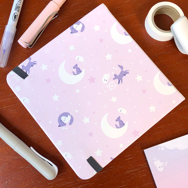 Goodnight Ghost and Dog Square Notebook