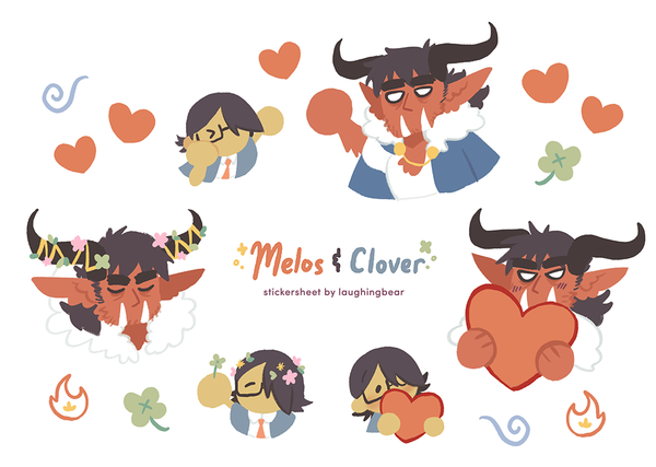 Tiny Melos & Clover Stickersheet