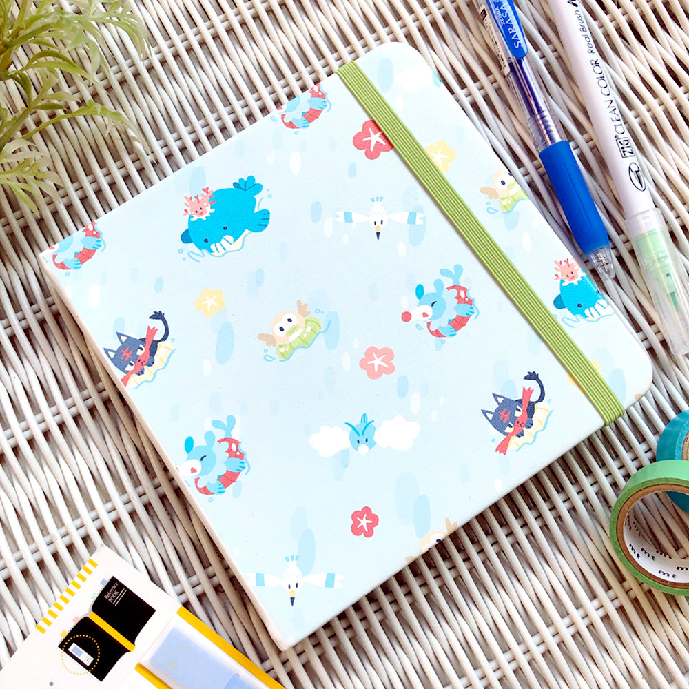 Ocean Party Square Notebook