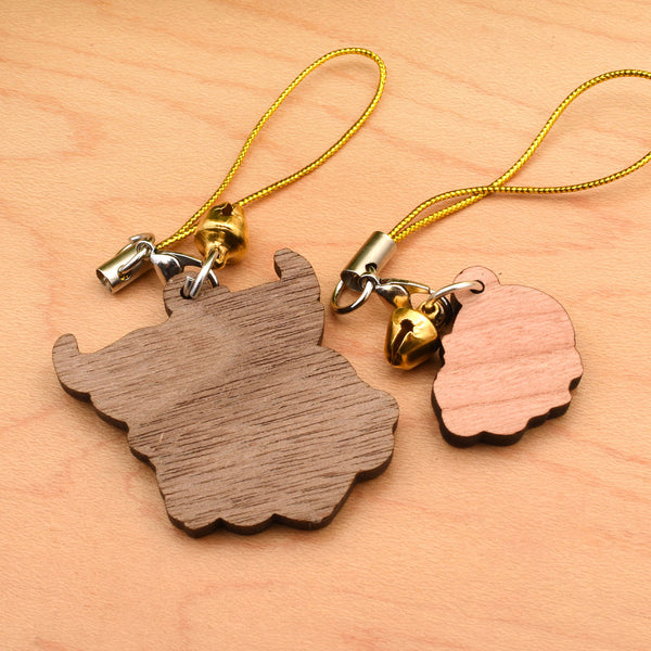 Melos & Clover Wood Charm Set