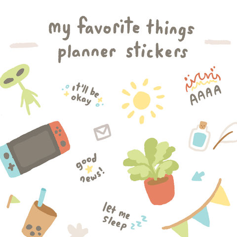 Planner Sticker Set: My Favorite Things