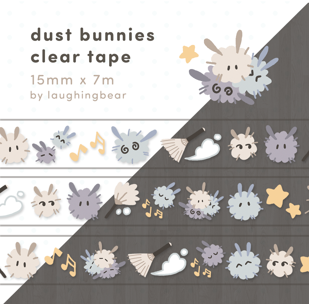 Dust Bunnies Clear Tape (misprint)