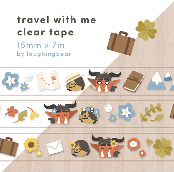 Travel with Me Clear Tape (misprint)