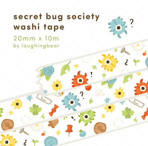 Secret Bug Society Washi Tape