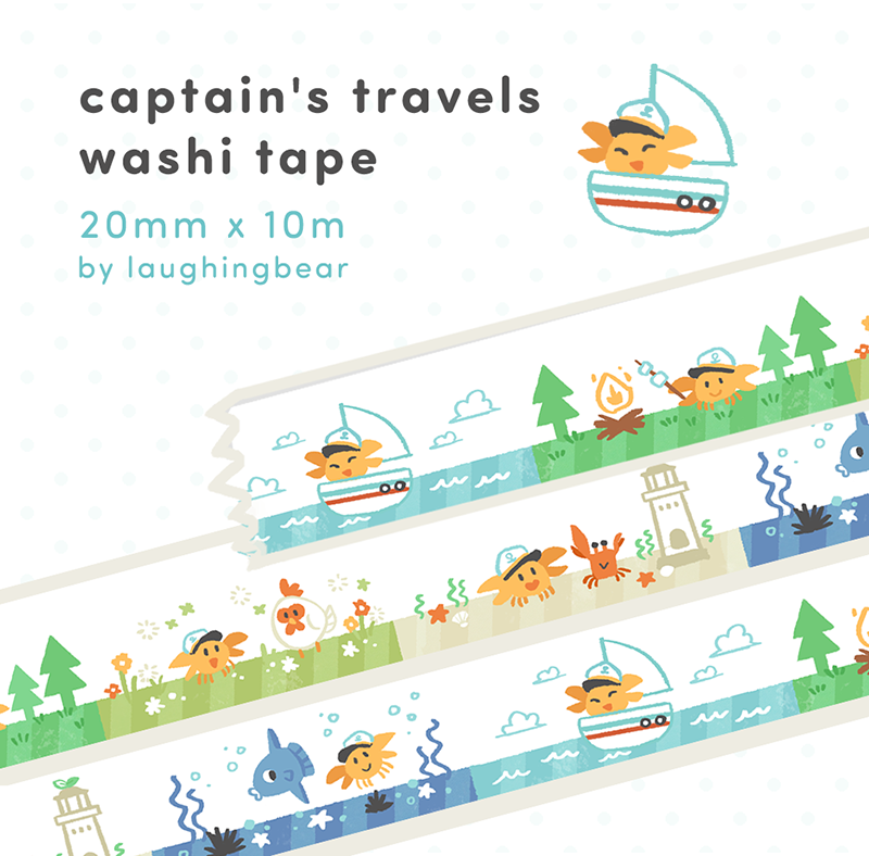 Captain's Travels Washi Tape