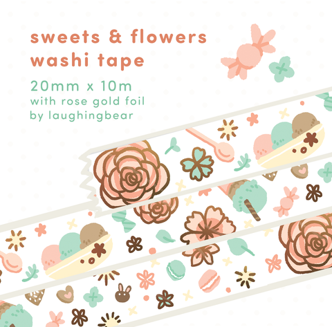 Sweets & Flowers Washi Tape