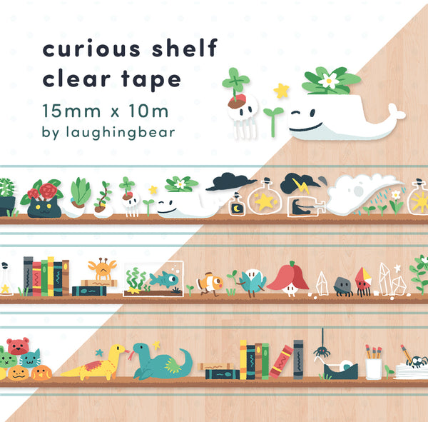 Curious Shelf Clear Tape