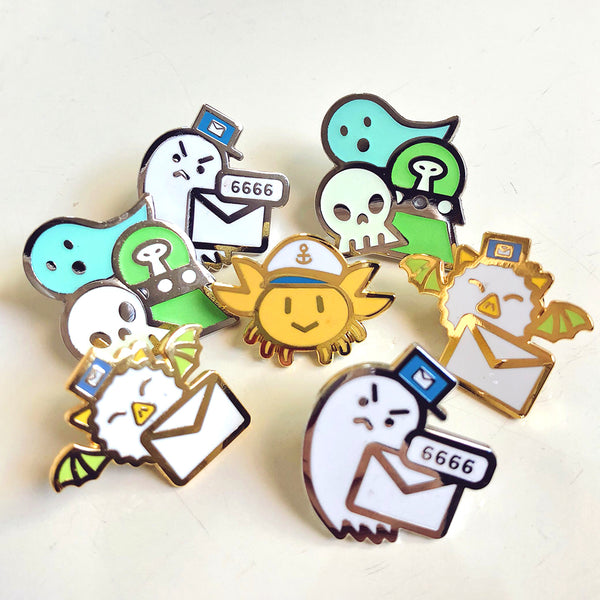 Random Seconds Enamel Pins