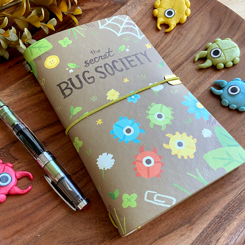 Secret Bug Society Traveler's Style Notebook