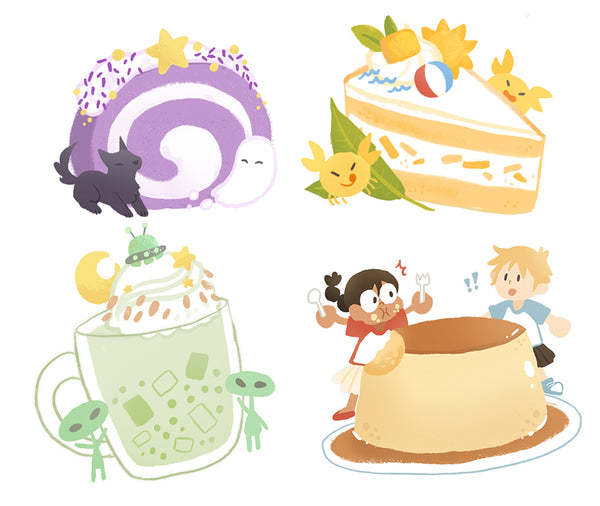 Food Sticker Pack: Tropical Sweets