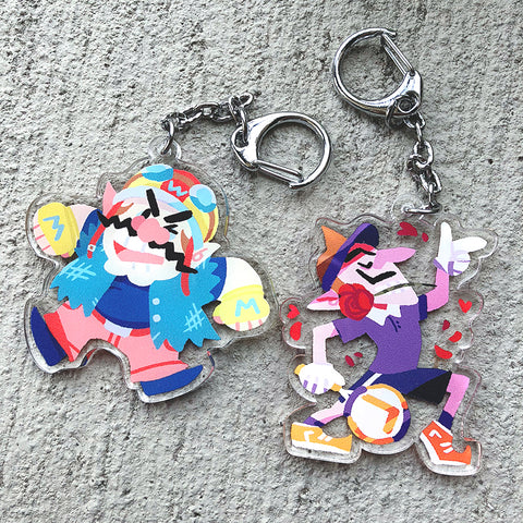 Wario and Waluigi Charms