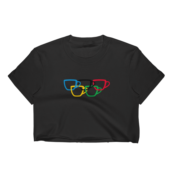Coffee Olympics Crop Top