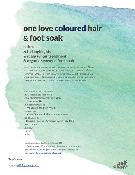 one love coloured hair + foot soak