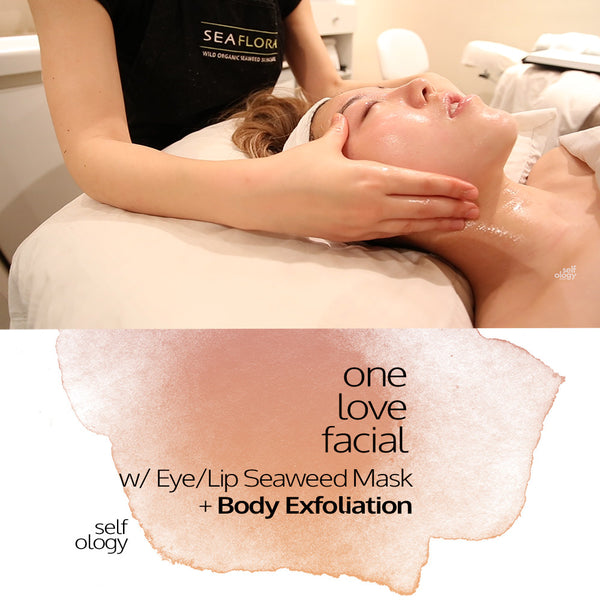 One Love Facial + Eye/Lip Seaweed Mask + Body Exfoliation