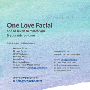 * - * Selfology Anew 2021 offers * - * One Love Facial + Hydrating Eye / Lip Mask