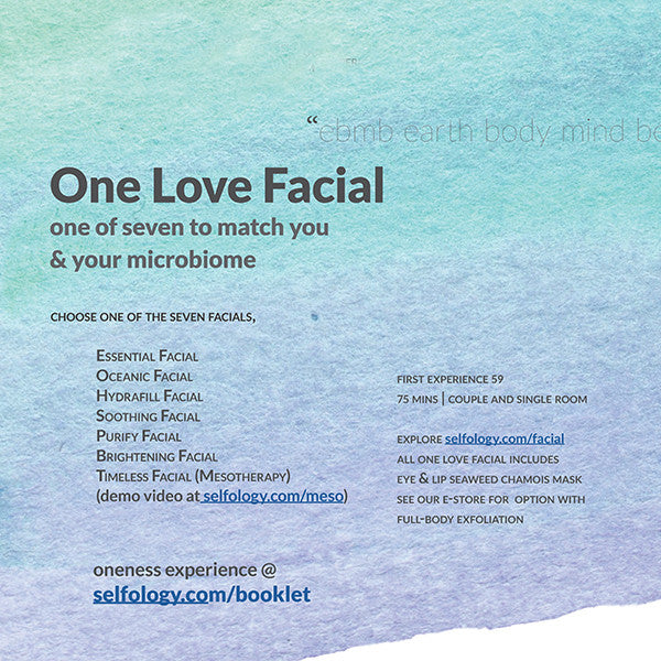 Selfology Anew Awaits 2021 Series—I am in love. 我愛了 wǒ ài le—Offer THREE3—One Love Facial with Hydrating Eye & Lip Mask