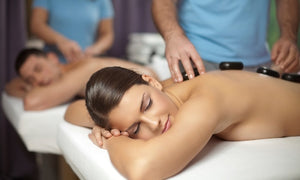 Open image in slideshow, Hot Stone Massage with Aromatherapy and Choice of Two Add-Ons