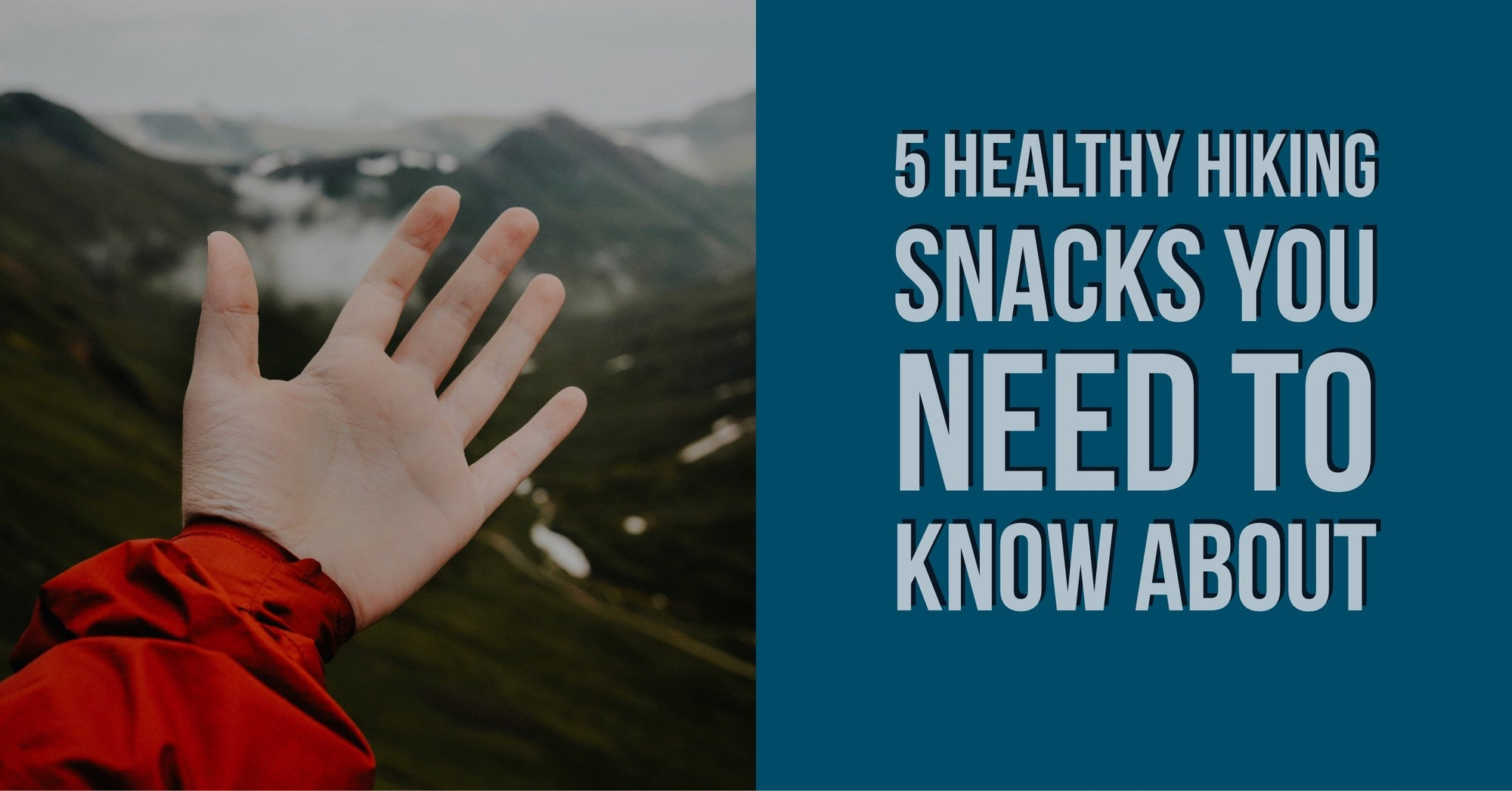 5 Healthy hiking snacks you need to know about. Visit idhikethat.com to see what hiking snacks to bring on the trail.
