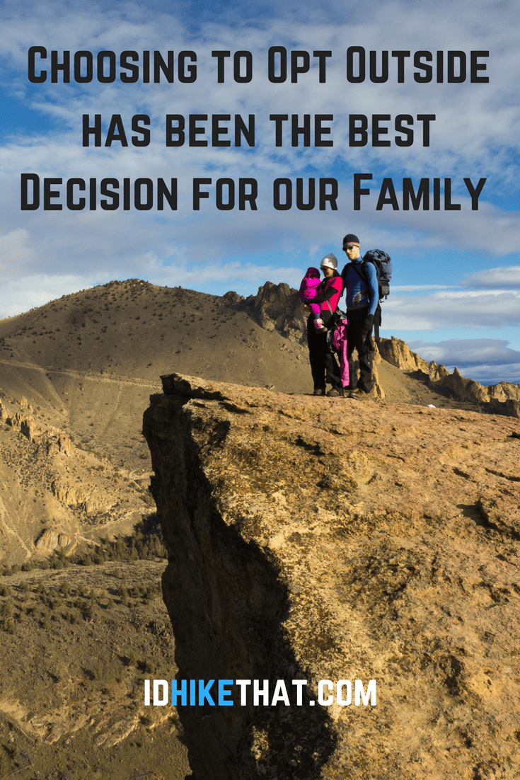 This family decided to do something different on black friday. They chose to join REI and opt outside. It is one of the best choices they ever made. Now they plan to do the same thing with their business I'd hike That.