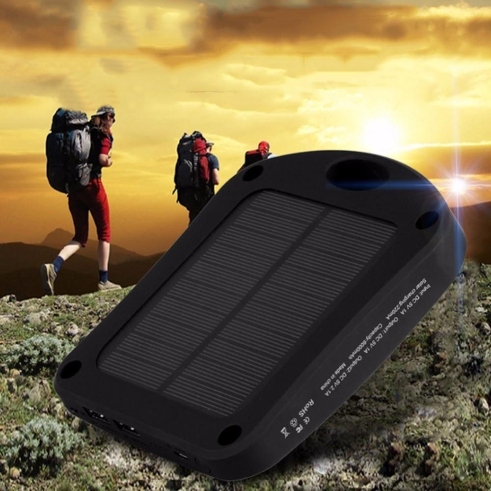 Accessories 6000mAh Portable Solar Mobile Phone Power Bank Charger - USB Travel Power Bank