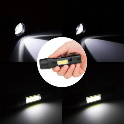 Accessories Black LED Flashlight With Side-Light