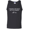 Apparel 100% Cotton Tank Top / Black / Small I Wanna Get High...Let's Go Hiking - Tank Top