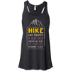 Apparel Bella+Canvas Flowy Racerback Tank / Black / Small Hike like there's a hot guy... Flowy Tank