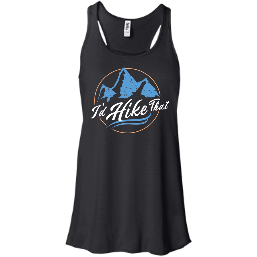 Apparel Bella+Canvas Flowy Racerback Tank / True Royal / Small I'd Hike That - Flowy Tank