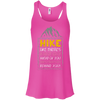 Apparel Bella+Canvas Flowy Racerback Tank / Neon Pink / Small Hike like there's a hot guy... Flowy Tank