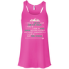 Apparel Bella+Canvas Flowy Racerback Tank / Neon Pink / Small I Hike to Get Fit! Flowy Tank