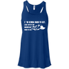 Apparel Bella+Canvas Flowy Racerback Tank / True Royal / Small I'm Kinda Hard to Get! Flowy Tank