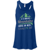 Apparel Bella+Canvas Flowy Racerback Tank / True Royal / Small If it Involves Mountains, Coffee or Beer... Count Me In!