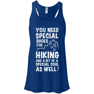 Apparel Bella+Canvas Flowy Racerback Tank / True Royal / Small You Need Special Shoes for Hiking