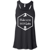 Apparel Bella+Canvas Juniors Flowy Racerback Tank / Black / Small Hike Now, Beer Later! Template