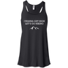 Apparel Bella+Canvas Juniors Flowy Racerback Tank / Black / Small I Wanna Get High...Let's Go Hiking! Flowy Tank