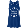 Apparel Bella+Canvas Juniors Flowy Racerback Tank / True Royal / Small Hike Now, Beer Later! Template